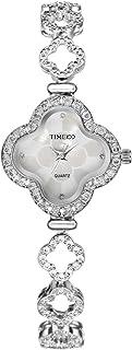 Time100 Women's Diamonds Quartz Jewelry Strap Bracelet Watch Lucy Clover Luxury Watches for Ladies