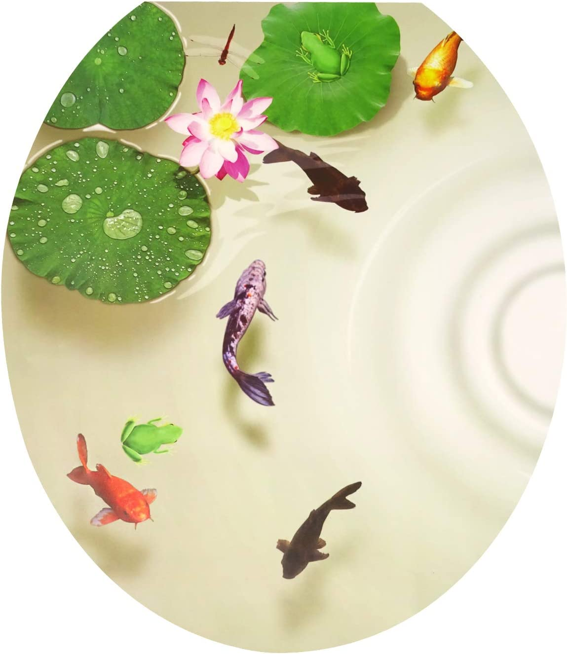 Honbay 3D Toilet Seat Stickers and Removable SALENEW very Attention brand popular Decals Waterproof