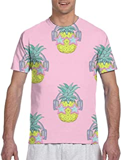 Strawberry Pattern Background Short Sleeve Tee Novelty Teen Unisex T Shirt