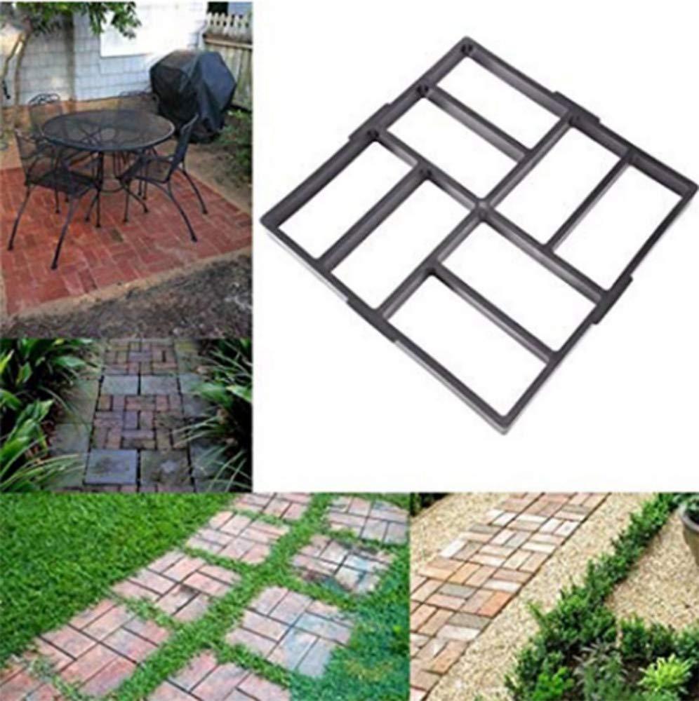 Molde Concreto Antiguo Del Molde Del Cemento Del Jardín De Diy Que Pavimenta El Molde Concreto Cuadrado: Amazon.es: Bricolaje y herramientas