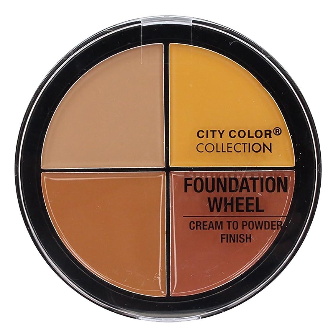 支援する罹患率キャンドルCITY COLOR Foundation Wheel - Medium to Deep (並行輸入品)