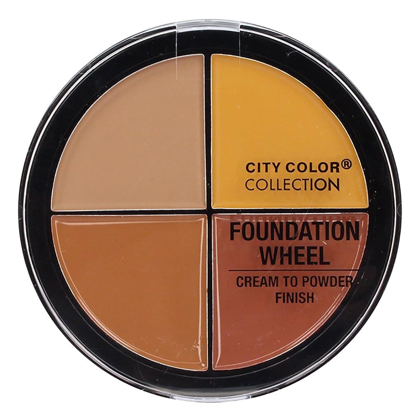 懇願する明確に安いですCITY COLOR Foundation Wheel - Medium to Deep (並行輸入品)