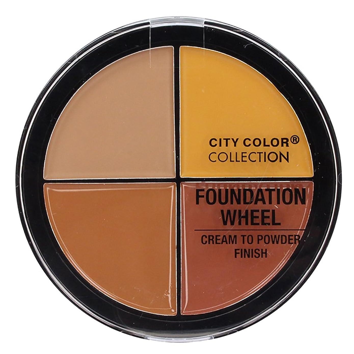 変位付ける市民権CITY COLOR Foundation Wheel - Medium to Deep (並行輸入品)