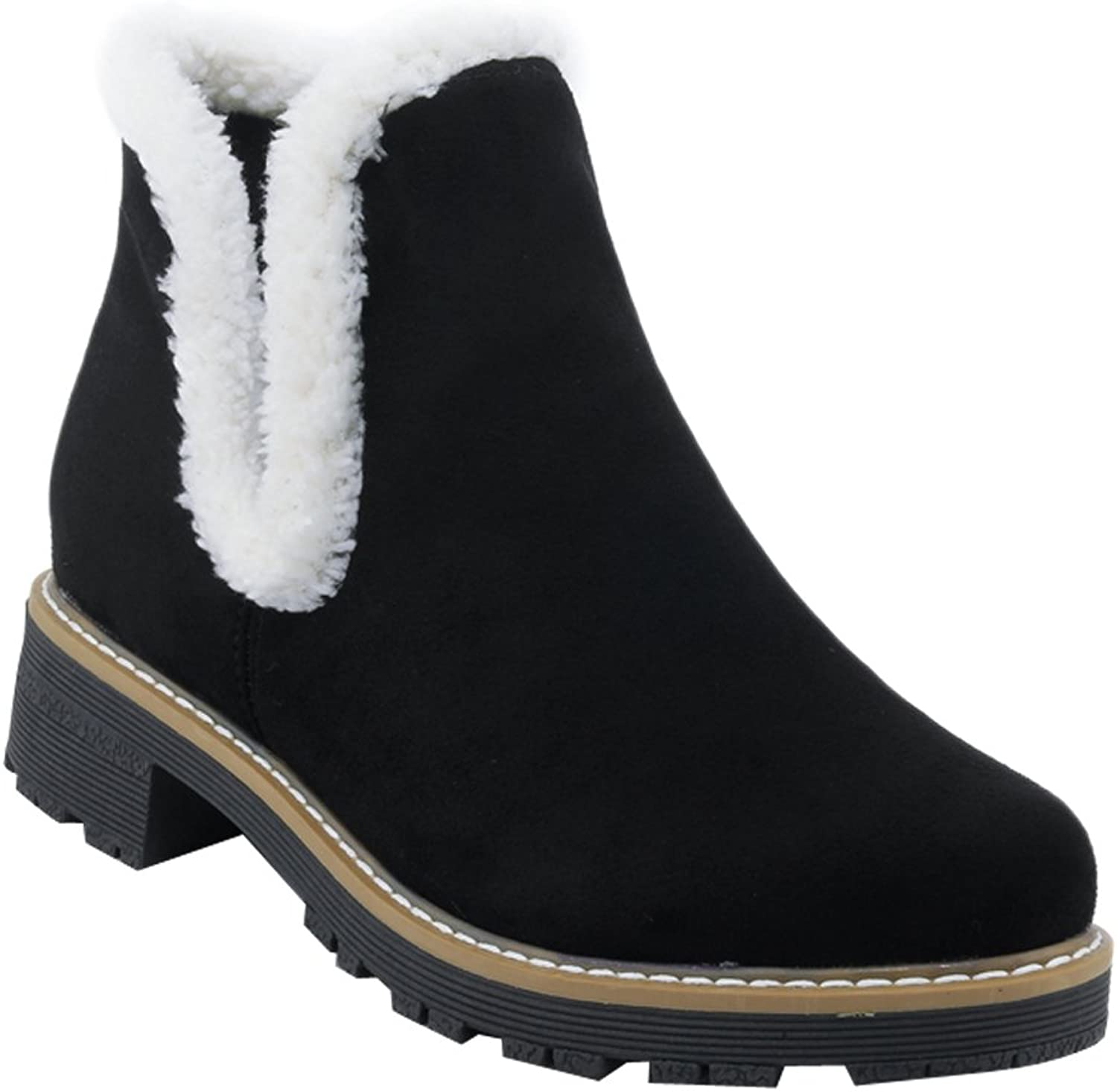 Show Shine Women's Pull On Chunky Heel Ankle Boots