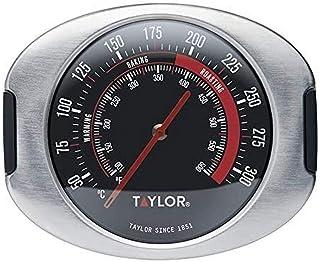 Taylor Pro, ugnstermometer med upphängningskrokar/stativ, rostfritt stål, 9 x 8,5 cm