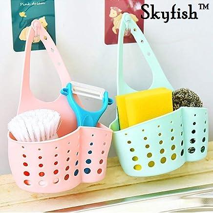 Skyfish Hanging Sink Soap and Sponge Holder- Multi Color (Set of 2)