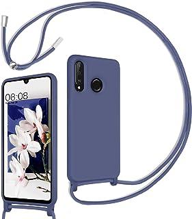 DUEDUE Huawei P30 lite/P30 lite Hülle silikon mit Band, Handyhülle Silikon Rundumschutz Huawei P30 lite Handyhülle Schutzh...