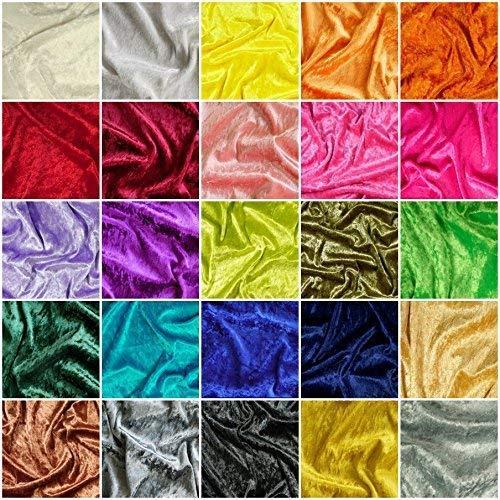 DIE NÄHZWERGE PANNESAMT Meterware 270g/lfdm, 28 Farben | Dekoration Stoff Samt-Imitat SPITZENQUALITÄT, Blickdicht (100 x 150 cm, rot)