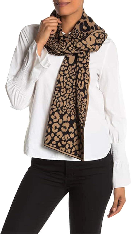 Michael Kors Leopard Print Scarf And Hat Set