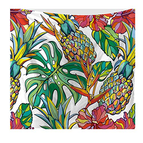 nobranded Ananas Fantastico Design Arazzo Bohémien Multifunzionale Decorazione da Appendere a Parete Arazzo da Parete con Frutta Tropicale Grande Ananas