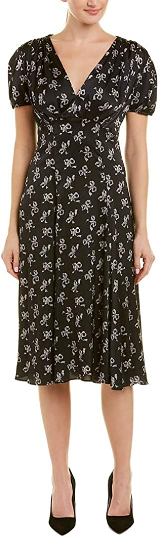 Betsey Johnson Women's Vintage Bow Print Midi Dress