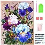 40 x 30cm 5D Pintura Diamante Flor, DIY Diamond Art Kit Completo, Cuadro para Pintar con Numeros, Diamond Painting Kit para Adultos Mujer, Decoración del Hogar, Regalos para Familiares y Amigos.