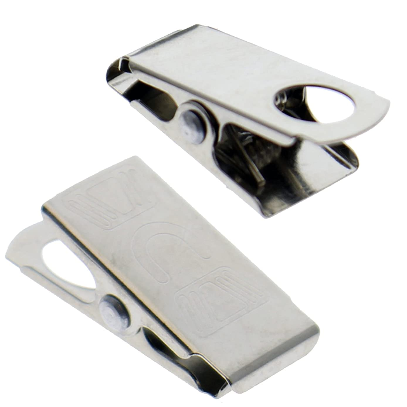 50 Pack - Small 1 Inch Bulldog Clasp Clips for Making Lanyards Arts & Crafts - Alligator Style Metal ID Clip Findings - DIY Supplies for ID Badges, Eyeglass Retainers & More by Specialist ID