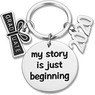 Class of 2019 Keychain Graduation Gifts for Students Nurse Her Inspirational Key Ring Him Grads Daughter Son from Dad Mom Women Men College Boys Girls My Story is Just Beginning Birthday
