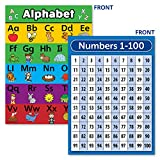 Laminated ABC Alphabet & Numbers 1-100 Poster Chart Set (18 x 24)...