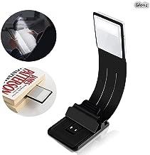 Lámpara de escritorio, GLURIZ Libro luz LED Lampara de Lectura 4 Brillo Ajustable, Clip Luz de Lectura Noche Lampara de Lectura con Brazo Flexible
