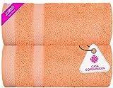 CASA COPENHAGEN Solitaire Egipcio algodón 600g/m², Toallas de baños...