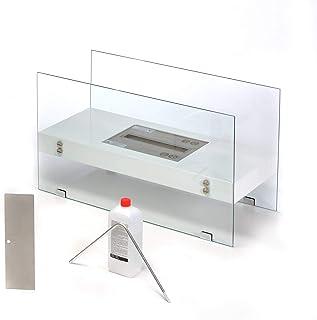 CERTO 40539 AERO Premium - Chimenea de mesa de etanol (75 x 44 x 31,5 cm, 2 L, bioetanol), Blanco