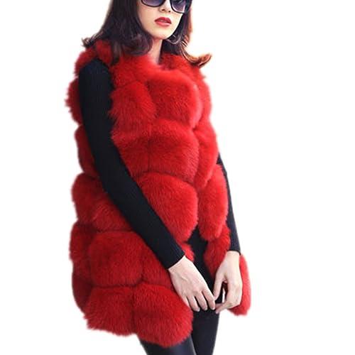 373408dcd2c Women Faux Fur Vest Coat Luxury Fox Fur Coat Jackets Winter Warm Fur Vest