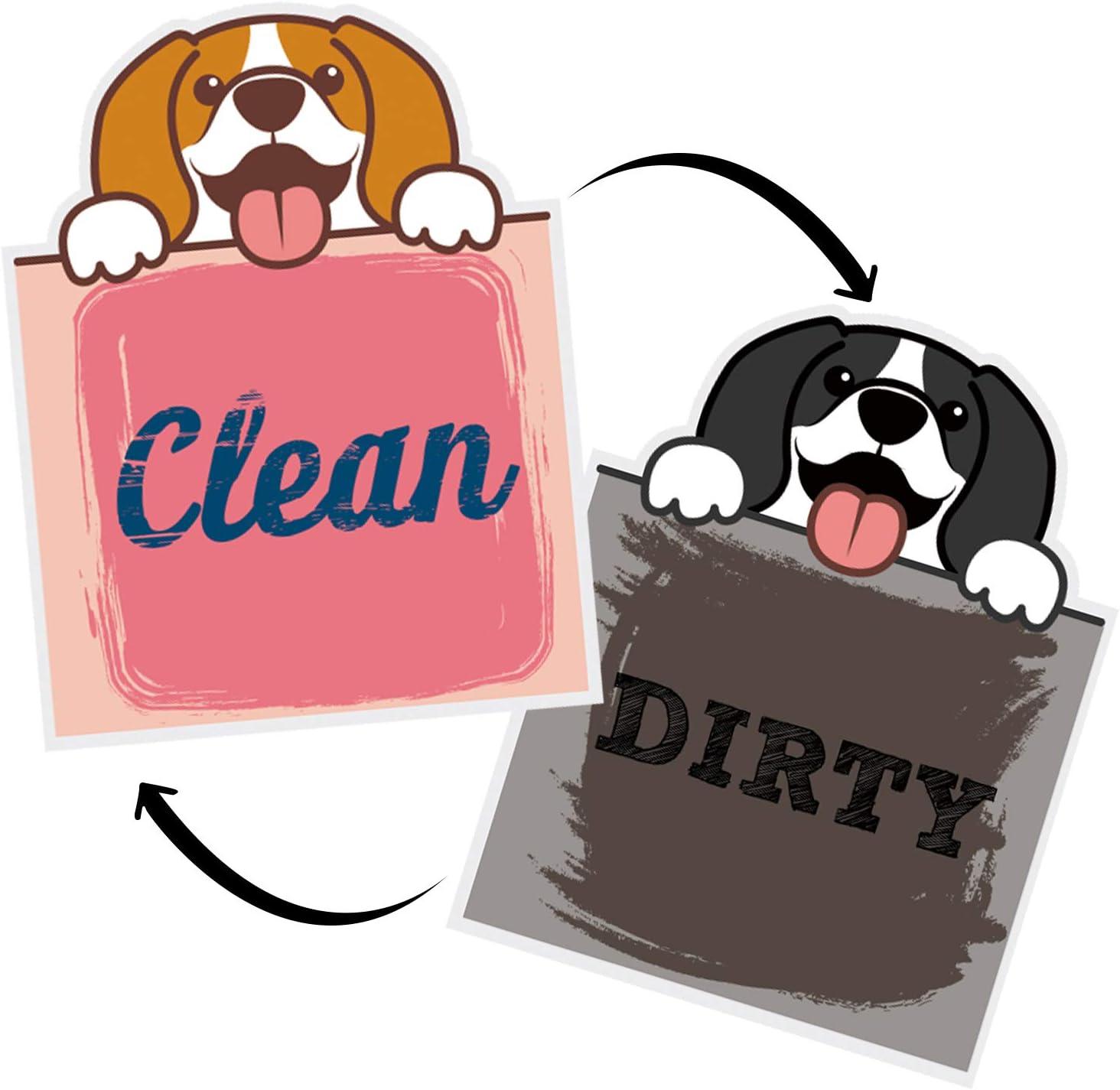 Nidoul Clean Dirty Dishwasher Magnet Sign Waterproo 3.3