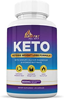 Keto Pills for Weight Loss - Burn Fat Fast & Lose Unwanted Pounds - Weight Loss Supplements for Women & Men - Appetite Suppressant - Ketogenic Formula with BHB - 60 Capsules