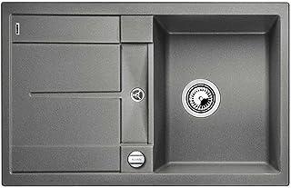 Blanco Metra 45 S-F Alumetallic Grau Flächenbündig Granit-Spüle Küchenspüle