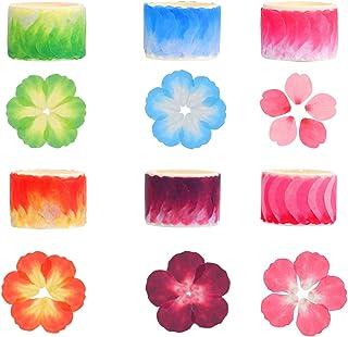 JIELUO 6 Rolls Flower Petals Washi Tapes Sakura Petal Stickers Flower Pattern Adhesive Tape for Scrapbooking Dairy Crafts ...