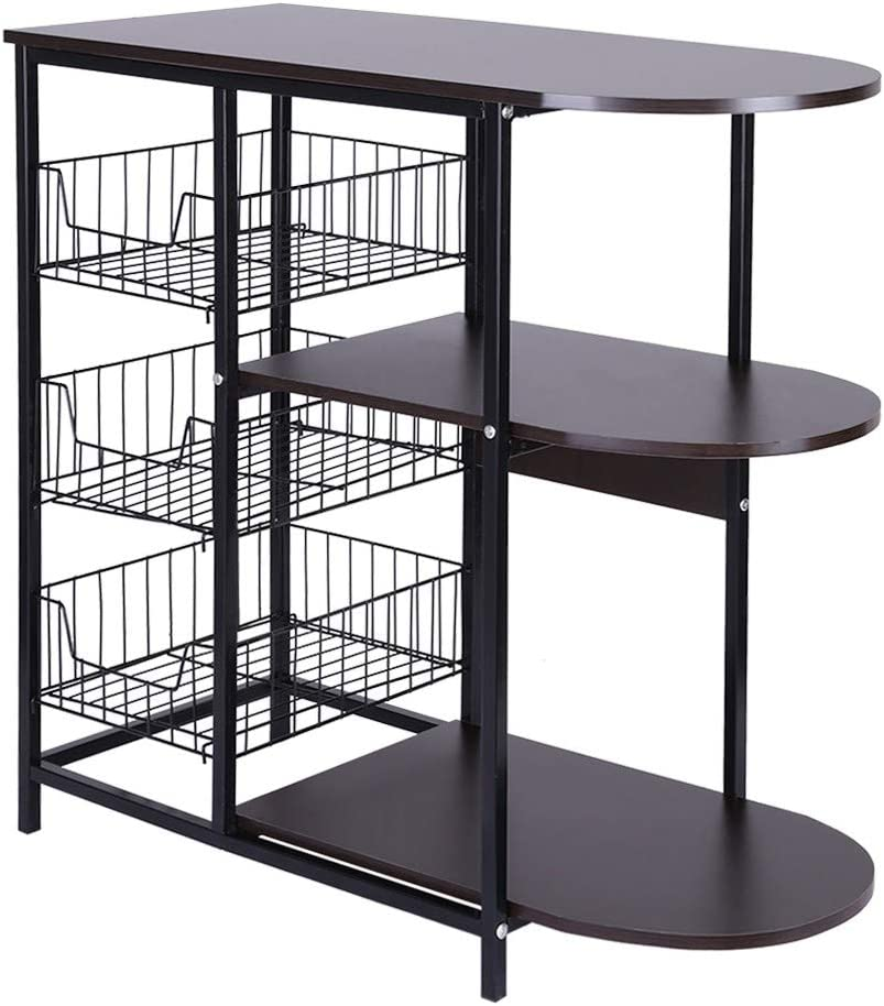 Vehpro 3 Layers Kitchen Baker's Ranking TOP6 Shelf Rack Floor Courier shipping free Microwave Oven