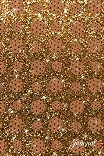 Journal: Faux gold glitter chocolate chip cookies notebook