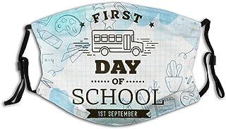 Promini tillbaka till skolan den 1 september personlig munärm återanvändbar munskydd (ge fem munskydd)