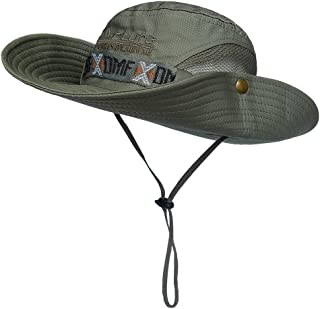 LETHMIK Summer Fishing Boonie Sun Hat Cap Outdoor Safari Hunting Camping Hat with Chin Cord