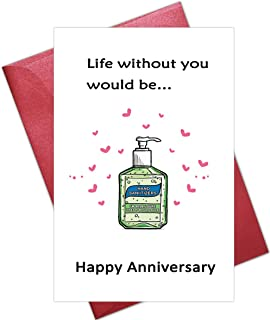 Funny Anniversary Card, Romantic Cards for Husband Wife, Funny Love Cards for Boyfriend Girlfriend, Funny Quarantine Card,...