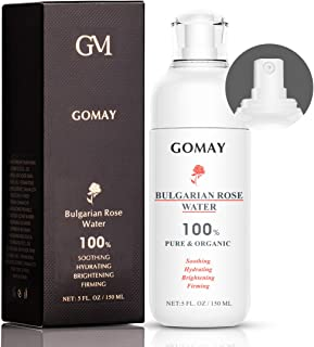 Bulgarian Rose Water Spray, 100% Natural and Organic Facial Toner, Hydrating, Shrink pores, Soothing, Anti-Oxidation, Alco...