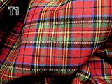 Red Blue Green Mini Stuart Scotch Plaid Tartan Cotton Fabric 44' W