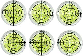 6 قطع مستوى فقاعة بولسي الروح مستويات 32 × 7 مم درجة سطح فقاعة علامة مستوى الروح مستوى إمالة للكاميرا ترايبود الأثاث مستوى...