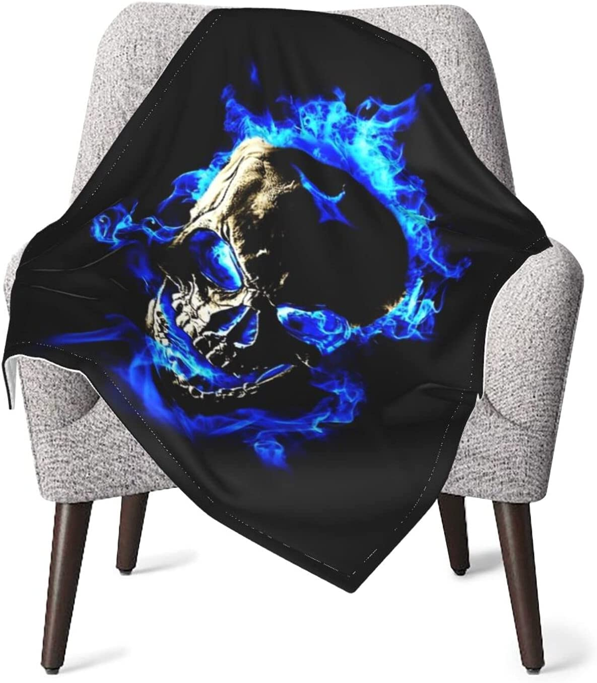JZDACH Baby Essentials Throw and Over item handling Max 51% OFF Blue Fire Receiving Skull