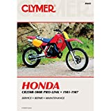 1981-1987 CLYMER HONDA CR250R-500R PRO-LINK SERVICE MANUAL M443 USED (396)