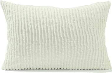 Beatrice Home Fashions Channel Chenille Pillow Sham, Standard, Ivory