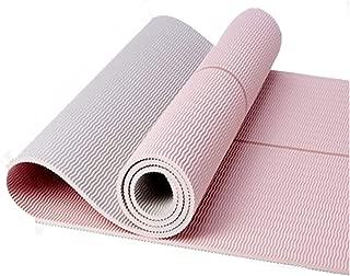 DPFXNN Estera de Yoga, línea Media equilibrada, Antideslizante, alargadora, portátil, para Todo Tipo de Yoga, Pilates y Ejercicios de Piso