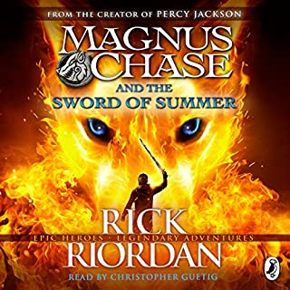 Magnus Chase and the Sword of Summer     Magnus Chase and the Gods of Asgard, Book One              By:                                                                                                                                 Rick Riordan                               Narrated by:                                                                                                                                 Christopher Guetig                      Length: 15 hrs and 20 mins     345 ratings     Overall 4.6