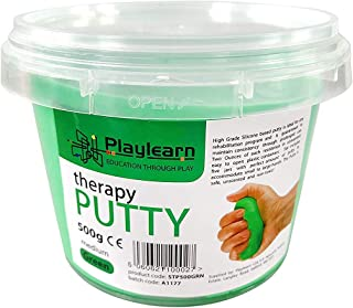 Playlearn Therapy Putty - Theraputty for Kids and Adults – Bulk Size 18 Ounce (Firm - Green)