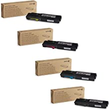 Xerox 106R02225, 106R02226, 106R02227, 106R02228 High Yield Toner Cartridge Set for Phaser 6600/WorkCentre 6605