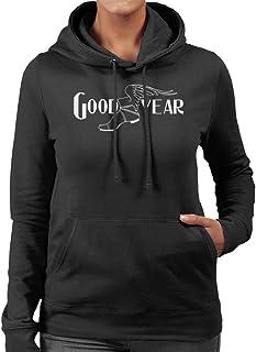 Goodyear Svart och vit logotyp huvtröja för kvinnor