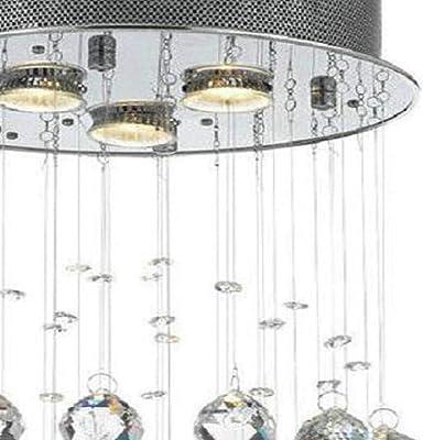 Amazon.com: Lámpara de araña de cristal de lujo, lámpara ...