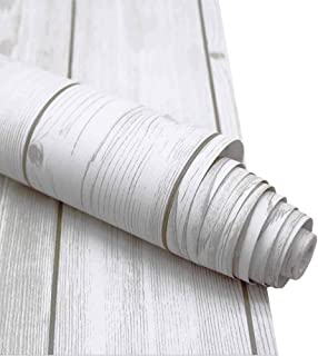 Wood Peel and Stick Wallpaper, Wall Decor Faux Wood Strip Easy Contact Easy Removable Wall Paper for Furniture Cabinets Living Rood Kitchen 17.71