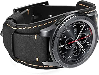 Coobes Compatible with Samsung Galaxy Watch 46mm/Galaxy Watch 3 45mm/Gear S3 Frontier/Classic Bands, 22mm Genuine Leather ...