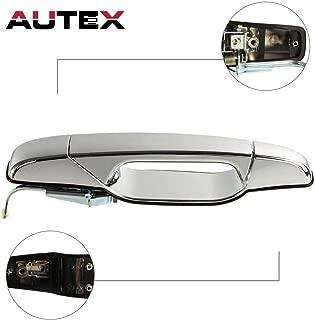 AUTEX Door Handle Exterior Outer Rear Left Side Compatible with Cadillac Escalade,GMC Sierra Yukon,Chevy Silverado Tahoe Avalanche 07-14 Door Handle 80105