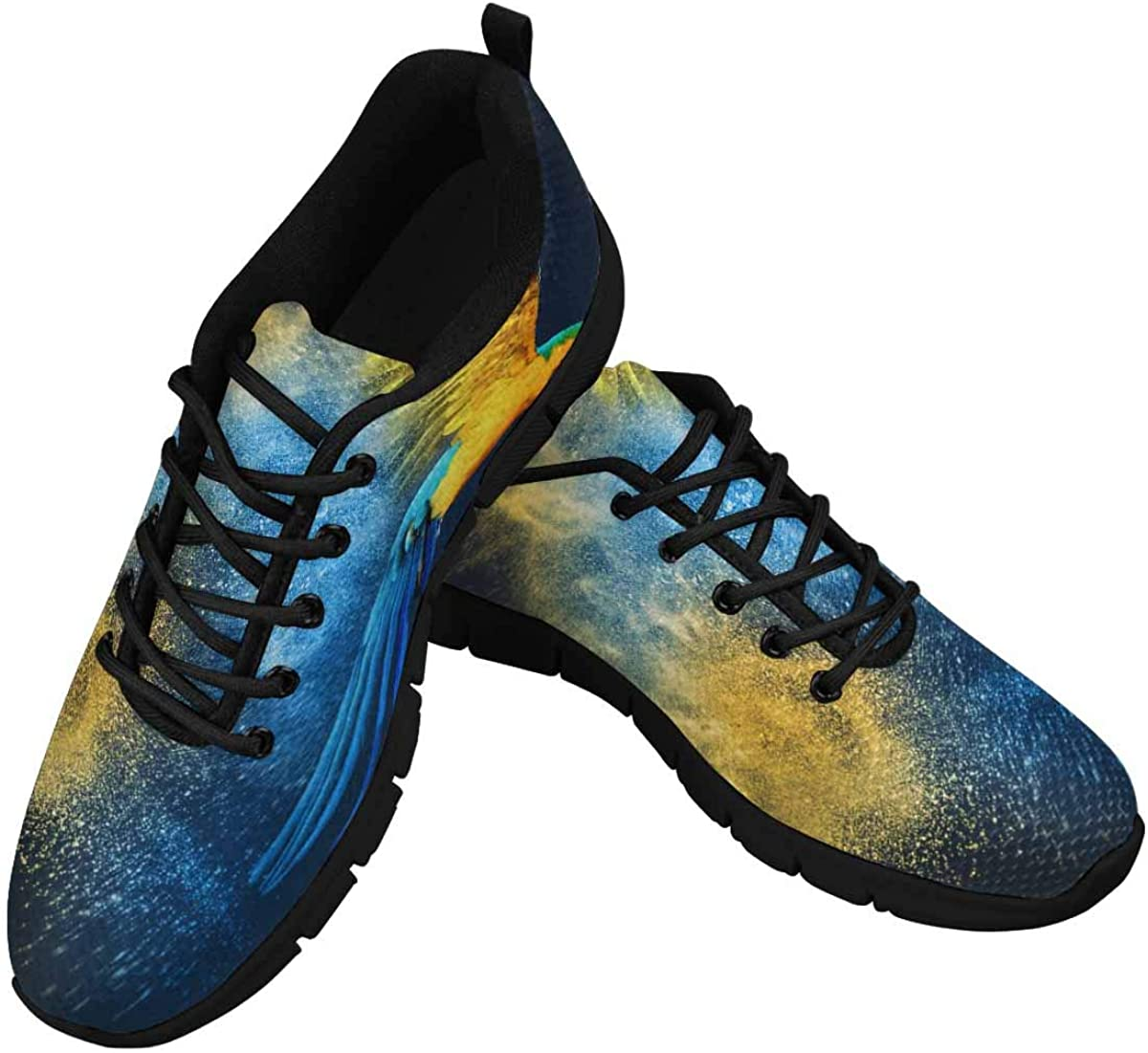 INTERESTPRINT Colorful Bird Women's Breathable Sneaker