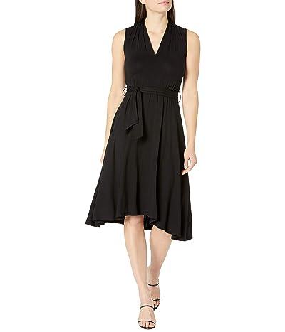 Calvin Klein Rayon Span Belted Midi Dress Women