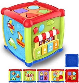 Baby Toys 6 to 12-18 Months Musical Educational Learning Activity Cube Toys for Toddlers Infants Kids 1 2 3 Year Olds Boys...